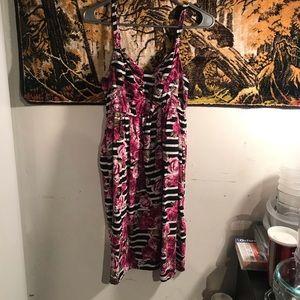 Torrid Striped/Floral Dress